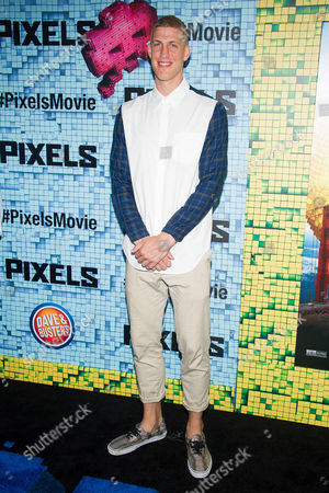 """Stock Image of Mason Plumlee attends the world premiere of """"Pixels"""" at Regal E-Walk, in New York"""