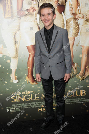 """Noah Urrea arrives at the world premiere of """"The Single Moms Club"""", in Los Angeles"""