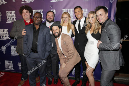 Rob Ramsay, Omari Newton, Writer/Producer Eric Falconer, Writer/Producer/Actor Chris Romano, Lindsey Sporrer, Writer/Producer/Actor Alan Ritchson, Kelly Kruger and Darin Brooks seen at World premiere of 'Blue Mountain State: The Rise of Thadland' at The Fonda Theatre, in Los Angeles, CA
