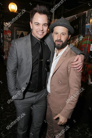 Darin Brooks and Writer/Producer/Actor Chris Romano seen at World premiere of 'Blue Mountain State: The Rise of Thadland' at The Fonda Theatre, in Los Angeles, CA