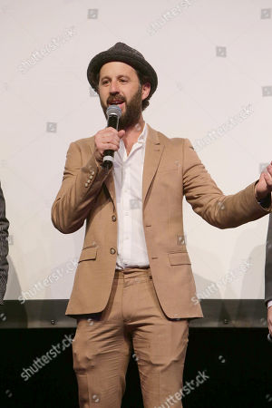 Stock Image of Writer/Producer/Actor Chris Romano seen at World premiere of 'Blue Mountain State: The Rise of Thadland' at The Fonda Theatre, in Los Angeles, CA