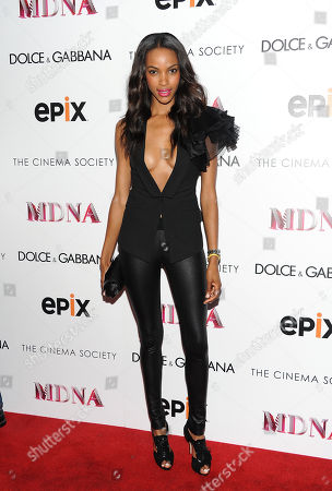 "Model Quiana Grant attends the world premiere of ""Madonna: The MDNA Tour"" hosted by The Cinema Society and Dolce & Gabbana at the Paris Theatre on in New York"