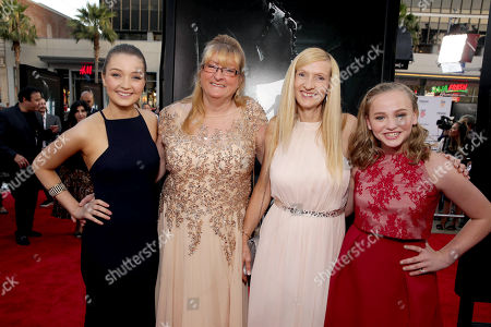 """Lauren Esposito, Margaret Nadeen, Janet Winter and Madison Wolfe seen at World Premiere of New Line Cinema's """"The Conjuring 2"""" at 2016 LA Film Festival, in Los Angeles"""