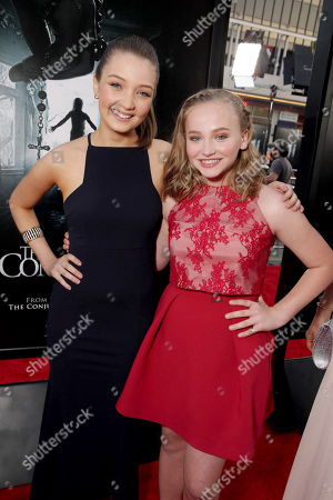 """Lauren Esposito and Madison Wolfe seen at World Premiere of New Line Cinema's """"The Conjuring 2"""" at 2016 LA Film Festival, in Los Angeles"""