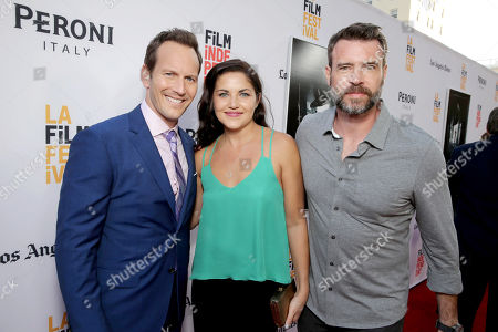 """Patrick Wilson, Marika Dominczyk and Scott Foley seen at World Premiere of New Line Cinema's """"The Conjuring 2"""" at 2016 LA Film Festival, in Los Angeles"""
