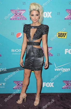 """Cece Frey, 21, of Decatur, IL, arrives at the """"X-Factor"""" Finalists Party, in Los Angeles"""