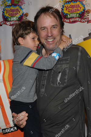 Kevin Nealon, right, and his son Gable Nealon attend Yo Gabba Gabba! Live!: Get The Sillies Out! 50+ city tour kick-off performance on Thanksgiving weekend at Nokia Theatre L.A. Live on in Los Angeles
