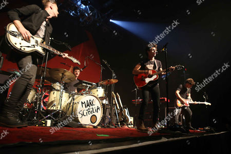 Marc Scibilia performs during the ZZ Ward - Love and War Tour 2015 at Center Stage Theater, in Atlanta