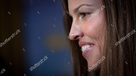Actress Hillary Swank arrives for the 'Big Fish' Broadway Opening Night on Sunday, October, 7, 2013 in New York