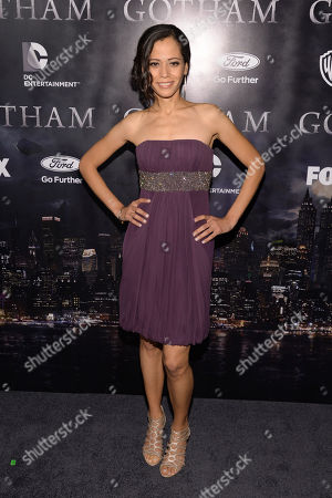 "Victoria Cartagena arrives at ""Gotham"" series premiere event at the New York Library on in New York"