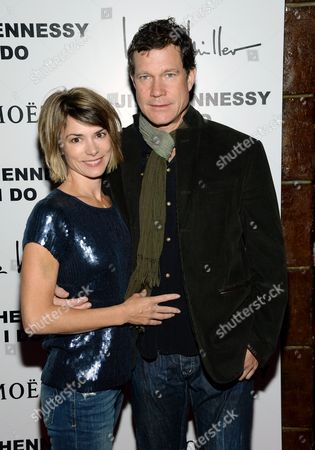 "Actor Dylan Walsh and guest attend the album release party for Jill Hennessy's ""I Do"" at The Cutting Room, in New York"