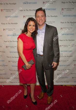 From left, Monica Rose and Michael P. Rose seen at the Magic In The Moonlight screening, on in Chicago