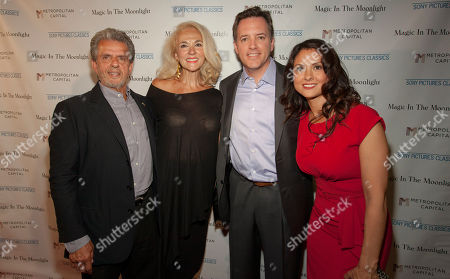 Stock Photo of From left, Ronald L. Chez, Athena Chez, Michael P. Rose and Monica Rose seen at the Magic In The Moonlight screening, on in Chicago