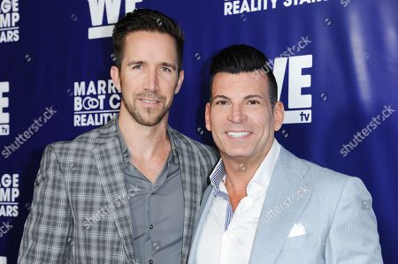 David Tutera and Joey Toth arrive at the Marriage Boot Camp Reality Stars Premiere Party held at Hyde Sunset, in Los Angeles