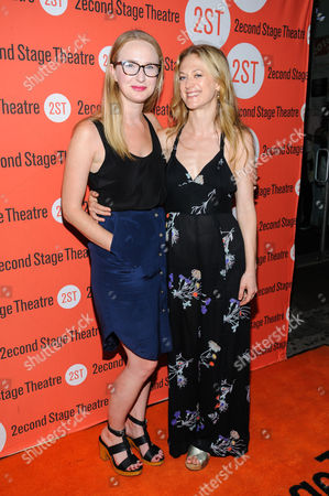"Bess Wohl and Betsy Wolfe attend the Off-Broadway opening night of ""The Layover"" at the Second Stage Theatre, in New York"