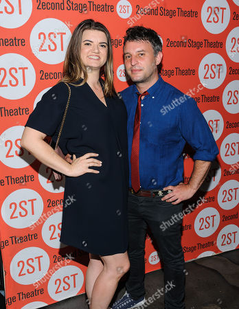 """Leslye Headland and Trip Cullman attend the Off-Broadway opening night of """"The Layover"""" at the Second Stage Theatre, in New York"""