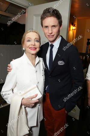 Stock Photo of Anne Jeffreys and Eddie Redmayne seen at 'The Theory of Everything' Reception hosted by Eddie Redmayne and James Marsh, in Los Angeles, CA