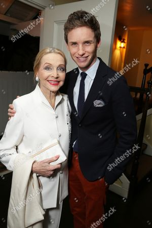 Anne Jeffreys and Eddie Redmayne seen at 'The Theory of Everything' Reception hosted by Eddie Redmayne and James Marsh, in Los Angeles, CA