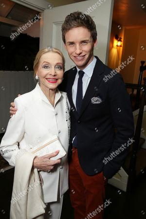 Stock Picture of Anne Jeffreys and Eddie Redmayne seen at 'The Theory of Everything' Reception hosted by Eddie Redmayne and James Marsh, in Los Angeles, CA