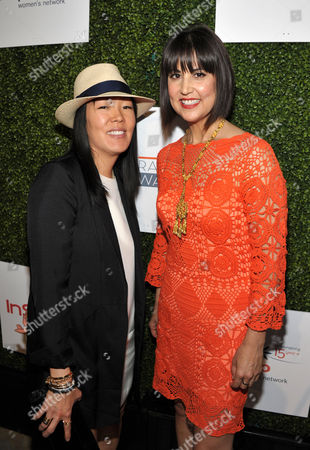 Jeanne Yang and Trina Turk arrive at the 10th Annual Inspiration Awards at the Beverly Hilton Hotel on in Los Angeles