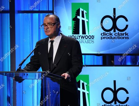 Hollywood Film Awards founder Carlos de Abreu speaks onstage during the 17th Annual Hollywood Film Awards Gala at the Beverly Hilton Hotel on in Beverly Hills, Calif