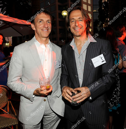 NORTH HOLLYWOOD, CA - SEPTEMBER 8: Emmy Nominees Mychael Danna (L) and Jeff Danna at the 2011 Academy of Television Arts and Sciences Music Nominee Reception held at the Academy of Television Arts & Sciences in North Hollywood, California, Thursday September, 8 2011