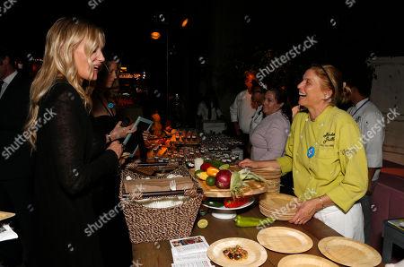 Mary Sue Milliken, of Border Grill, right, and Daryl Hannah at the 22nd Annual Environmental Media Awards, at Warner Bros. Studios in Burbank, Calif