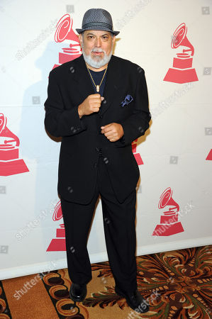 Latin jazz band leader and salsa singer, Poncho Sanchez, attends the 2012 Latin Recording Academy Lifetime Achievement Awards at The Four Seasons Hotel, in Las Vegas