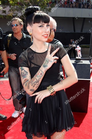 Kreayshawn arrives at the MTV Video Music Awards, in Los Angeles