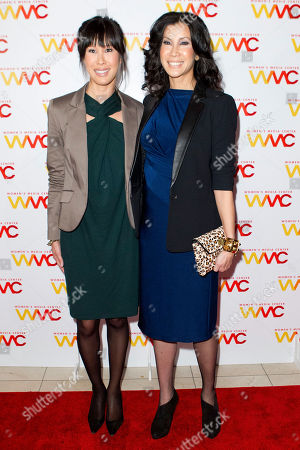 Lisa Ling, left, and Laura Ling attend the 2012 Women's Media Awards at Guastavino's on in New York
