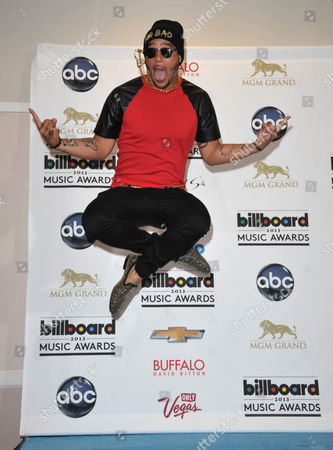 Sky Blu poses backstage at the Billboard Music Awards at the MGM Grand Garden Arena on in Las Vegas