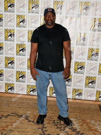 """Kevin Grevioux attends the """"I, Frankenstein"""" press line on Day 4 of Comic-Con International on in San Diego, Calif"""