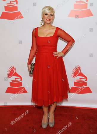Pasion Vega arrives at the Latin Recording Academy Person of the Year tribute, in Las Vegas