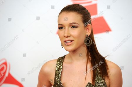 Nathalia Ramos arrives at the Latin Recording Academy Person of the Year tribute, in Las Vegas