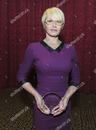 Ellen Barkin is honored at the 2013 Muse Awards presented by New York Women in Film & Television, in New York, which also honored actors Connie Britton, Robin Wright, Sonia Manzano and Frances Berwick, President of Bravo and Oxygen Media