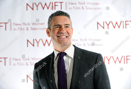 Andy Cohen on the red carpet before co-hosting the 2013 Muse Awards presented by New York Women in Film & Television, in New York. The event honored actors Connie Britton, Ellen Barkin, Robin Wright, Sonia Manzano and Frances Berwick, President of Bravo and Oxygen Media