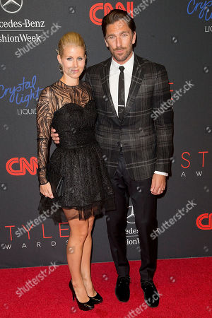 Therese Andersson and Henrik Lundqvist arrives at the 2013 Style Awards at Lincoln Center on in New York