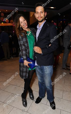 Kelsey Irvine and Adam Benzine attend the Opening Night Party for the 2013 Toronto International Film Festival at Maple Leaf Square on in Toronto