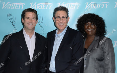 UNIVERSAL CITY, CA - MARCH 21: (L-R) Marc Juris, Michael Wright and Loretha Jones attend the 2013 TV Summit Presented by Variety and the Academy of Television Arts & Sciences Foundation at the Sheraton Universal Hotel on in Universal City, California