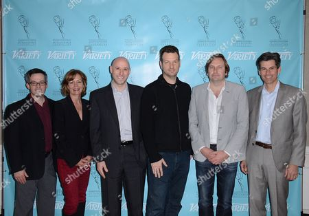 UNIVERSAL CITY, CA - MARCH 21: (L-R) Andrew Wallenstein, Beth Roberts, Matt Strauss, Avner Ronen, Jason George and Mike Hopkins attend the 2013 TV Summit Presented by Variety and the Academy of Television Arts & Sciences Foundation at the Sheraton Universal Hotel on in Universal City, California