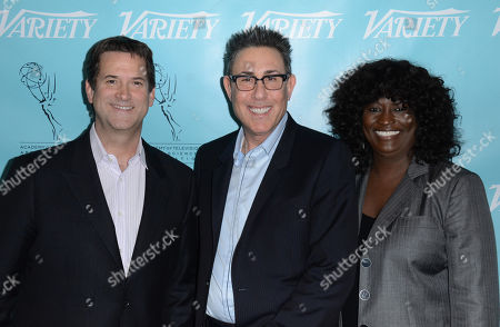Stock Photo of UNIVERSAL CITY, CA - MARCH 21: (L-R) Marc Juris, Michael Wright and Loretha Jones attend the 2013 TV Summit Presented by Variety and the Academy of Television Arts & Sciences Foundation at the Sheraton Universal Hotel on in Universal City, California