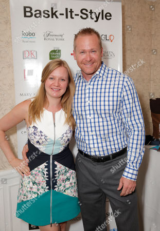 Stock Image of Jessica Glover and Matthew Willson attend the 2014 Bask-It-Style Media Day, on Wednesday, September 3th, 2014 in Toronto, Canada