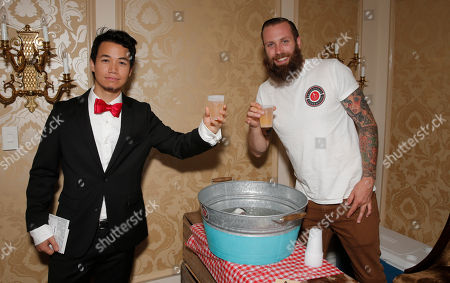 Shannon Kook and Blake Sugden of The Brickworks Ciderhouse attend the 2014 Bask-It-Style Media Day, on Wednesday, September 3th, 2014 in Toronto, Canada