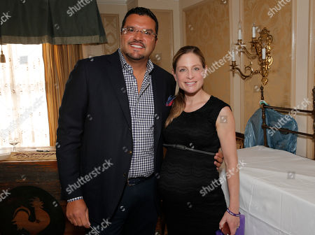 Tara Spencer-Nairn and John Tentomas attend the 2014 Bask-It-Style Media Day, on Wednesday, September 3th, 2014 in Toronto, Canada
