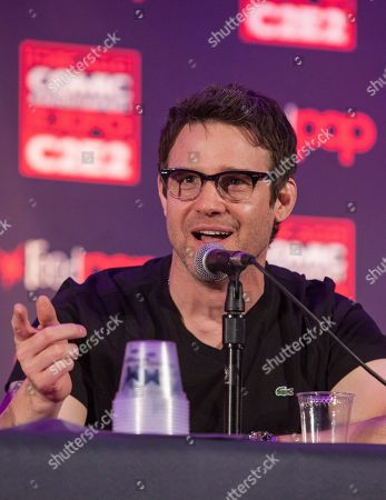 Stock Image of Actor Eddie McClintock during the Warehouse 13 panel at the Chicago Comic & Entertainment Expo at McCormick Place, in Chicago