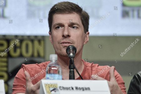"Chuck Hogan attends ""The Strain"" panel on day 4 of Comic-Con International, in San Diego"
