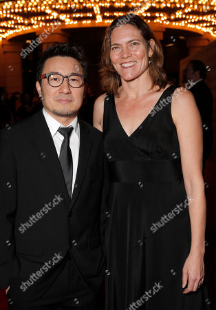 Yong Duk Jhun and Jane Hartwell attend the 2014 International 3D and Advanced Imaging Society's Creative Arts Awards at the Steven J. Ross Theatre, Warner Bros. Studios on in Burbank, California