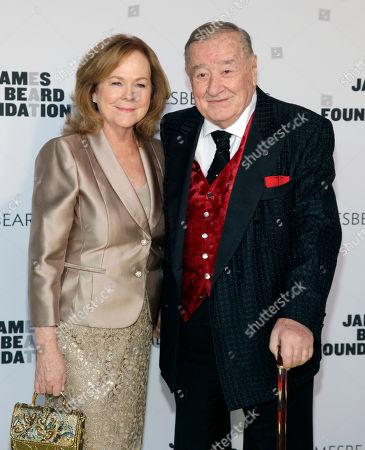 President of the James Beard Foundation Susan Ungaro, left, and restauranteur Sirio Maccioni, right, attend the 2014 James Beard Foundation Awards, in New York