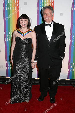 Stock Photo of Kennedy Center Honoree Patricia McBride, left, and Jean-Pierre Bonnefoux attend the 37th Annual Kennedy Center Honors at The Kennedy Center Hall of States, in Washington