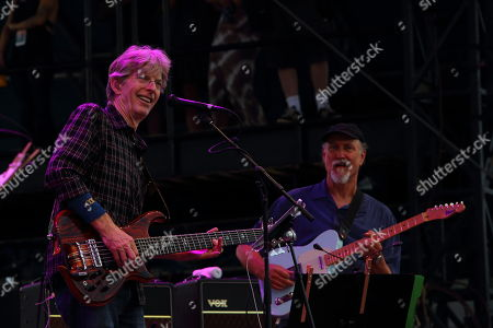Phil Lesh, John Scofield (L-R) and Phil Lesh & Friends performs at the 2014 Lockn' Festival, in Arrington, Virginia